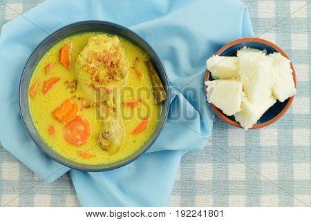 Opor Ayam, chicken cooked in coconut milk