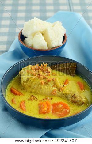 Opor Ayam, Indonesian cuisine, chicken cooked in coconut milk