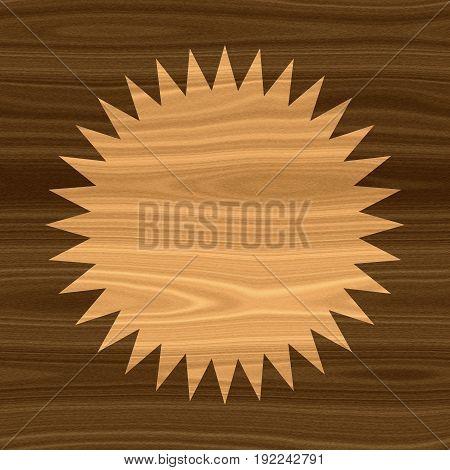 Beautiful wooden round circular circle with space for text natural eco style frame background