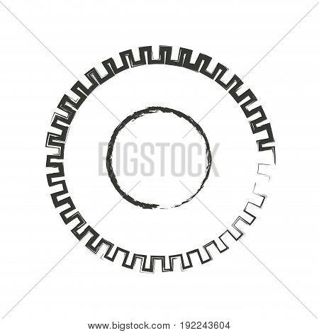 monochrome blurred silhouette of pinion icon vector illustration