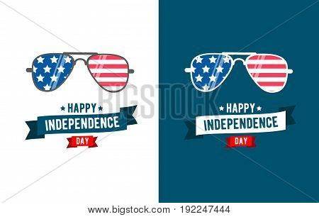 Sunglasses patriot. independence day 4th of July typographic design.United Stated Fourth of July vector illustration