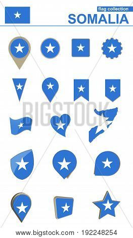 Somalia Flag Collection. Big Set For Design.