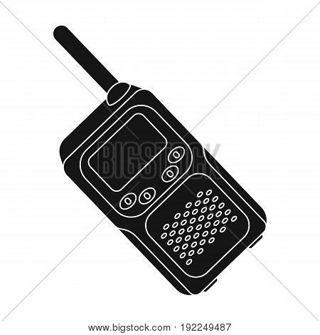 Walkie-talkie.Paintball single icon in black style vector symbol stock illustration .