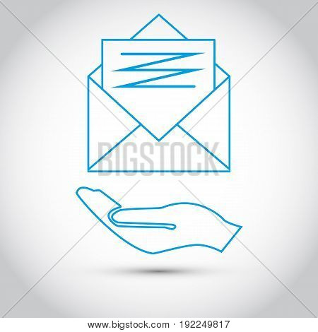 Envelope Mail. icon. Isolated stock vector illustration