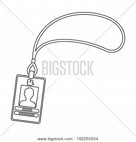 Badge on the tape.Making movie single icon in outline style vector symbol stock illustration .