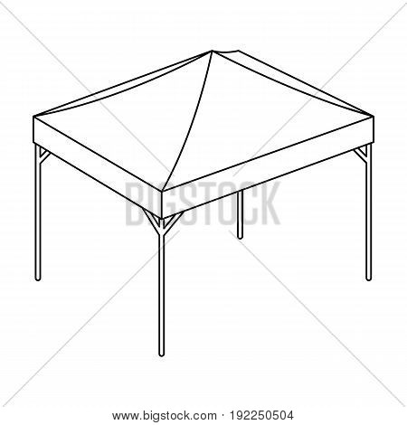 Awning for protection against sun and rain.Tent single icon in outline style vector symbol stock illustration .
