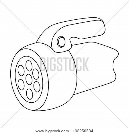 Flashlight.Tent single icon in outline style vector symbol stock illustration .