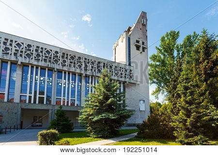 Sopot Poland - June 10 2017: The Church of Sts. Michael the Archangel in summertime