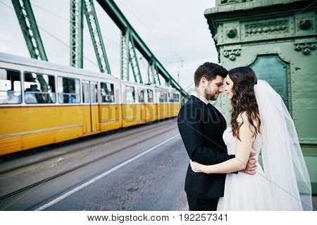 Amazing Wedding Photo At Old City Background