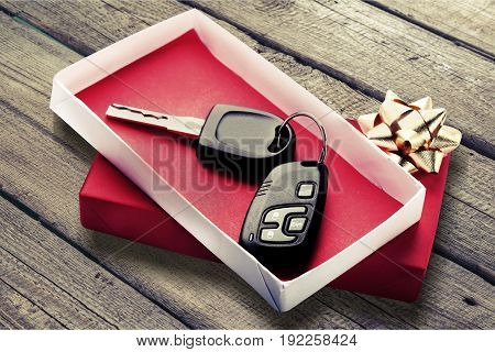 Key car red gift present sale buying
