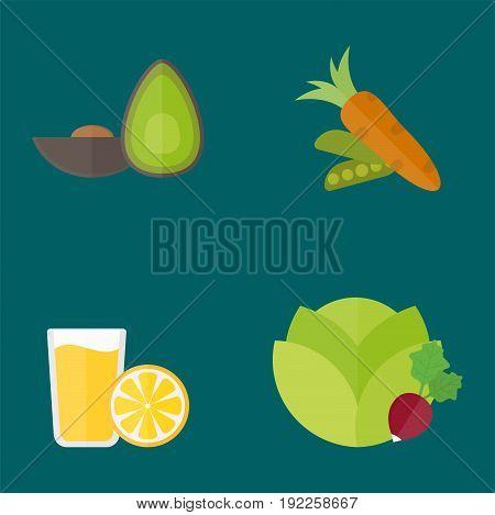 Vegan food nature restaurant fruit vegetarian healthy diet vegetable vector illustration. Cooking graphic cuisine vegetables health plant nutrition set.