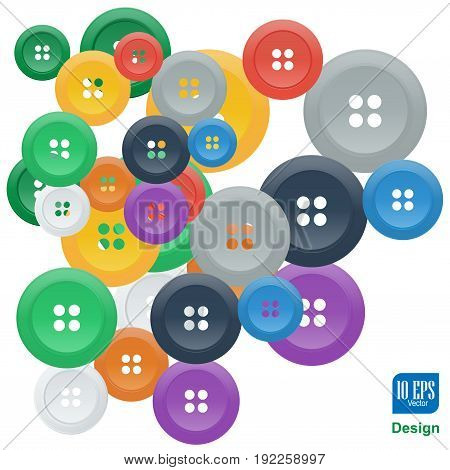 Vector Buttons Studs Fashionable Element Background