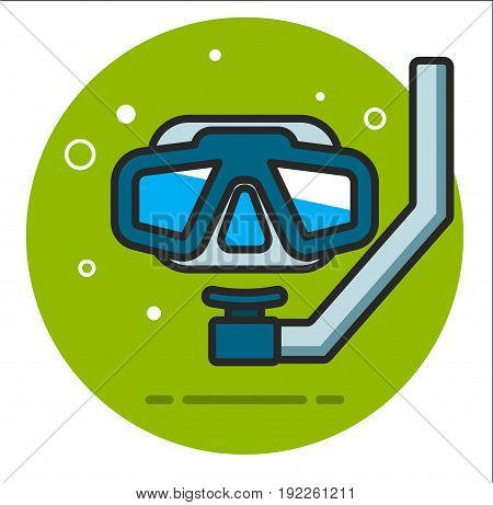 diving mask icon design graphic illustration vector