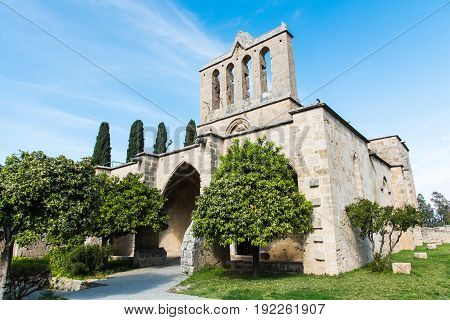 Famous Bellapais Abbey at Kerynia area in Northen Cyprus