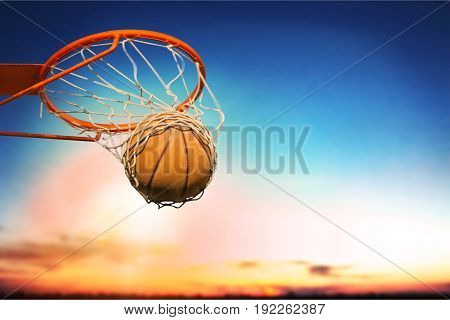 Ball net basketball falling street ball game sport