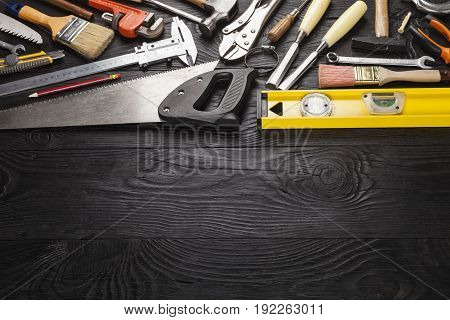Building tool tools various color objects background