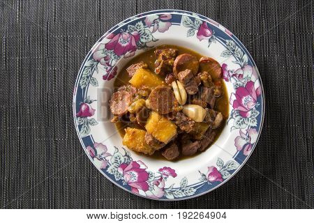Rustic Stew Meat With Manioc, Sausage And Pinion - Entrevero With Pinhao.