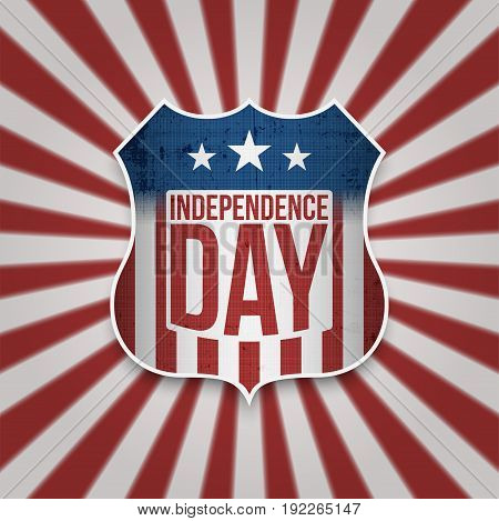 Happy Independence Day American Banner for 4th of July national Holiday. Vector greeting Card Template