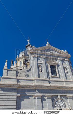 Church Santa Maria La Real De La Almudena In Madrid, Spain