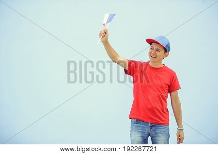 Man With A French Flag