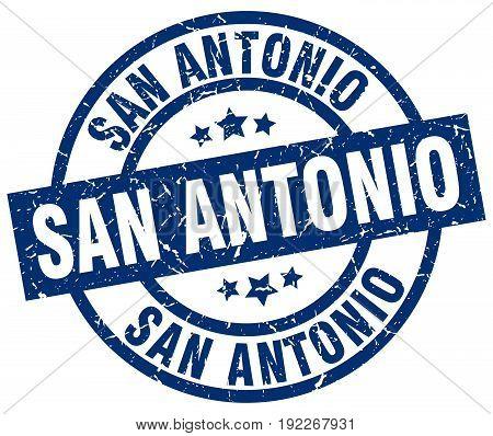 San Antonio round grunge stamp on white background