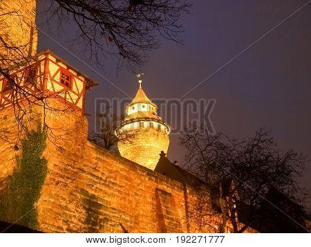 Nurenberg Ancient Tower Of Castle