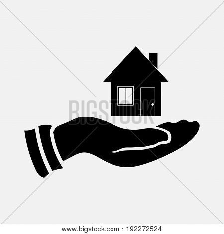 icon selling a home saving housing in hand fully editable image
