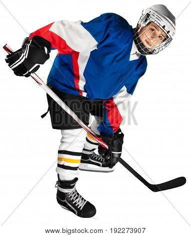 Portrait professional player hockey sport leisure competition