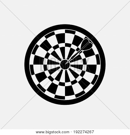 icon target dart game fully editable image