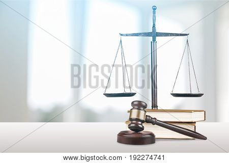 Justice books scales background closeup