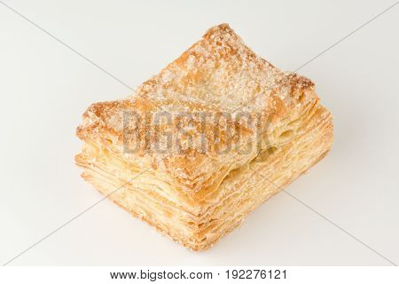 Sweet puff pastry with the sugar powder