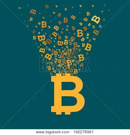 Bitcoin virtual currency concept illustration. Money symbol