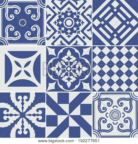 Vector set of tiles background. For  backgrounds decoration for your design ceramic page fill and more.