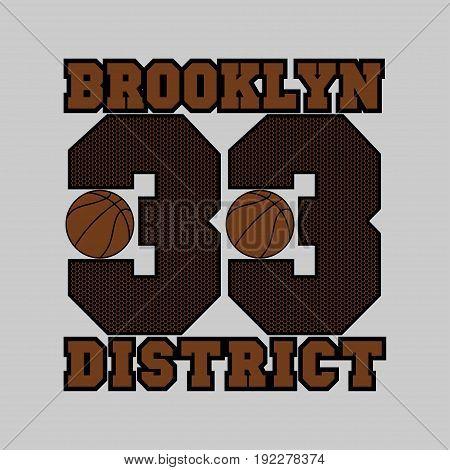 basketball fashion Typography sport emblem design