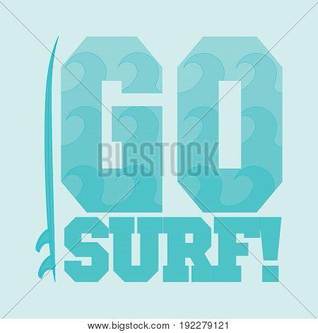 go surfing Miami Beach Florida surfing t-shirts T-shirt inscription typography graphic design emblem