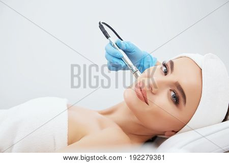 Cute Girl Doing Cosmetic Procedure