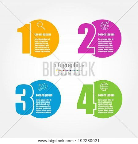 Infographic design template with four options for business