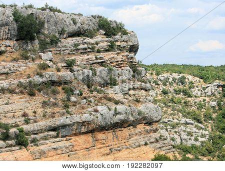 mountains near the river Krka in Croatia