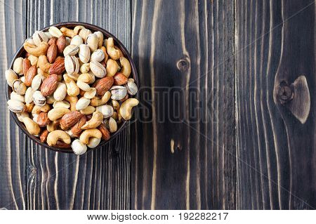 Mixed Nuts. Healthy Food And Snack. Top View.