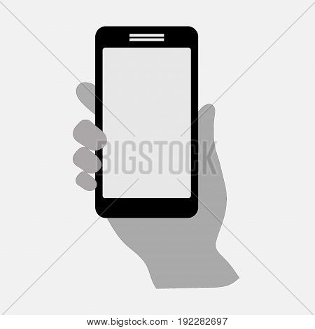 icon mobile phone in hand the smart phone communication fully editable image