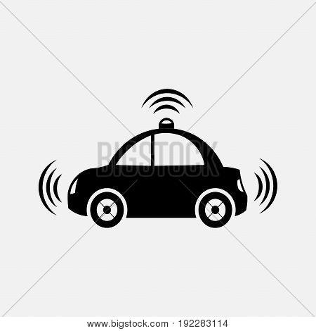 icon car alarm machine side view fully editable image