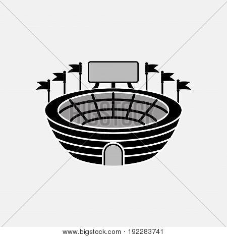 icon stadium with scoreboard sports information fully editable image