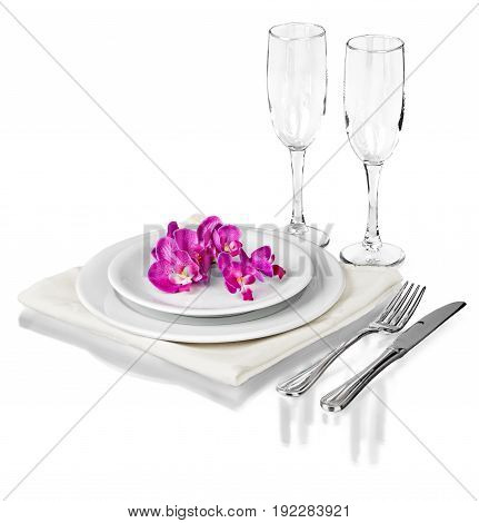 Table set setting color white design gift