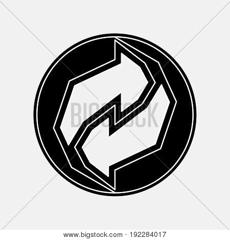 recycling icon black and white image rotate the arrow fully editable image
