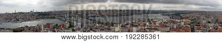 Panorama of the city center of Istanbul, Turkey