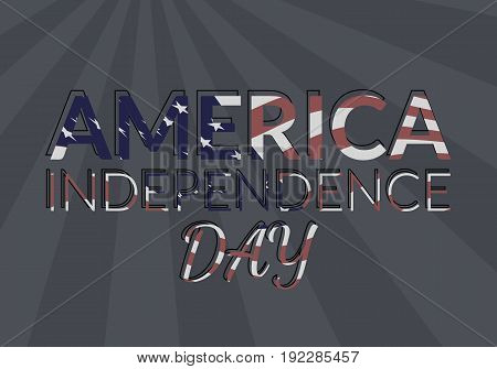 USA independence day vector illustration. 4th of july greeting card