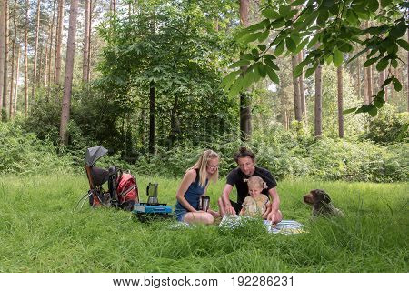 Backpackers Family Dining In Nature