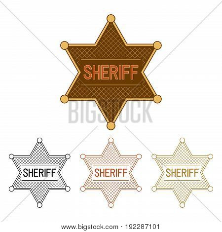 Sheriff's Stars. Set on a white background.