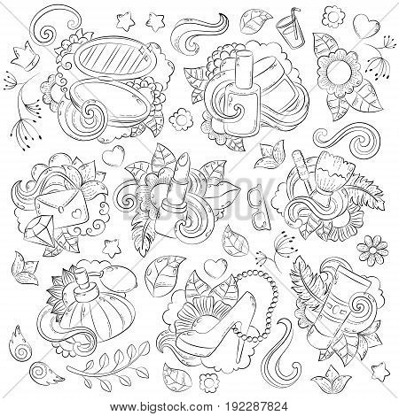 Doodle hand drawn vector abstract background, texture, pattern, wallpaper backdrop