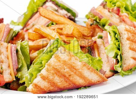 French grilled sandwiches fries grill deep fried white